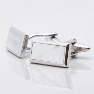Rectangular Mother of Pearl Cufflinks