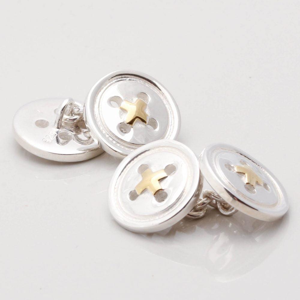 Sterling Silver Button Cufflinks Gallery