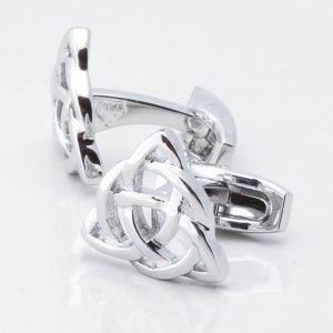 Celtic Infinity Knot Triangular Shaped Cufflinks