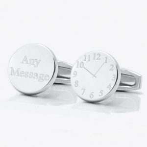 Personalised Time Clock Face Cufflinks