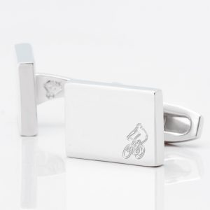 Cyclist-Rectangle-Silver