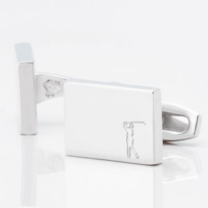 Golf-Player-Rectangle-Silver