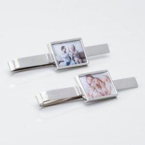 Rectangular Personalised Photo Tie Slide