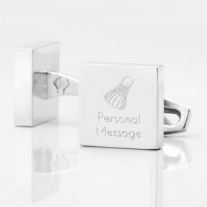 Personalised-BADMINTON-SHUTTLECOCK-Square-Silver