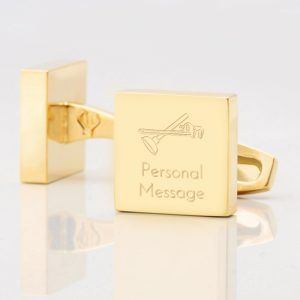 Personalised-PLUMBER-Square-Gold