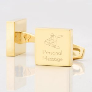Personalised-SNOWBOARDING-Square-Gold