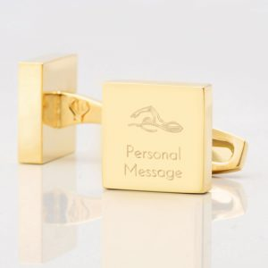 Personalised-SWIMMING-Square-Gold