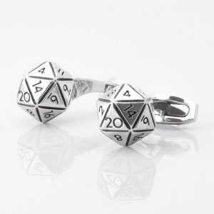 20 Sided Dice Cufflinks