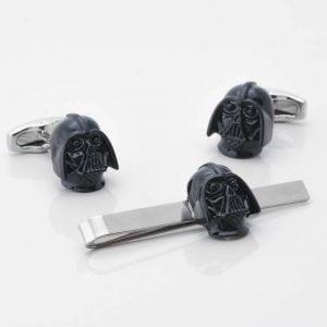 Darth Vader Cufflinks & Tie Slide Set