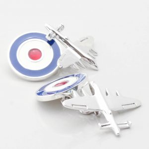 Sterling Silver Bomber Plane with RAF Roundel Clasp